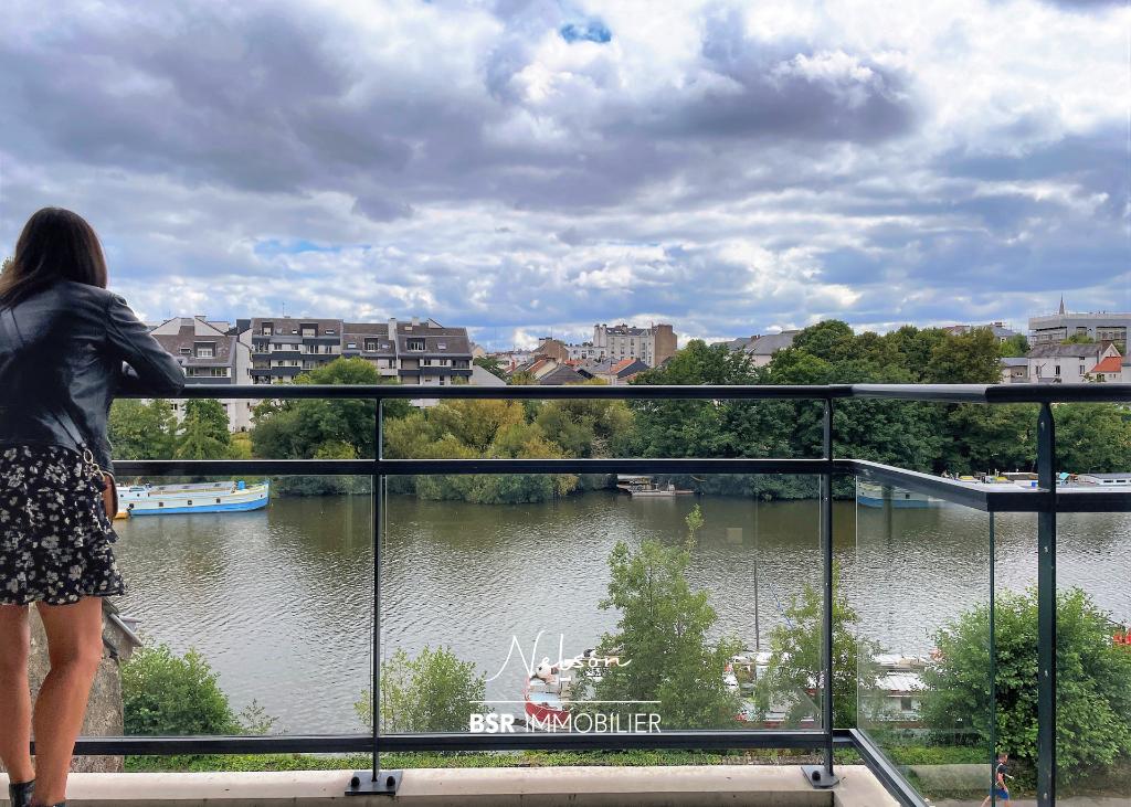NELSON appartement type 3 vue Erdre terrasse et parking