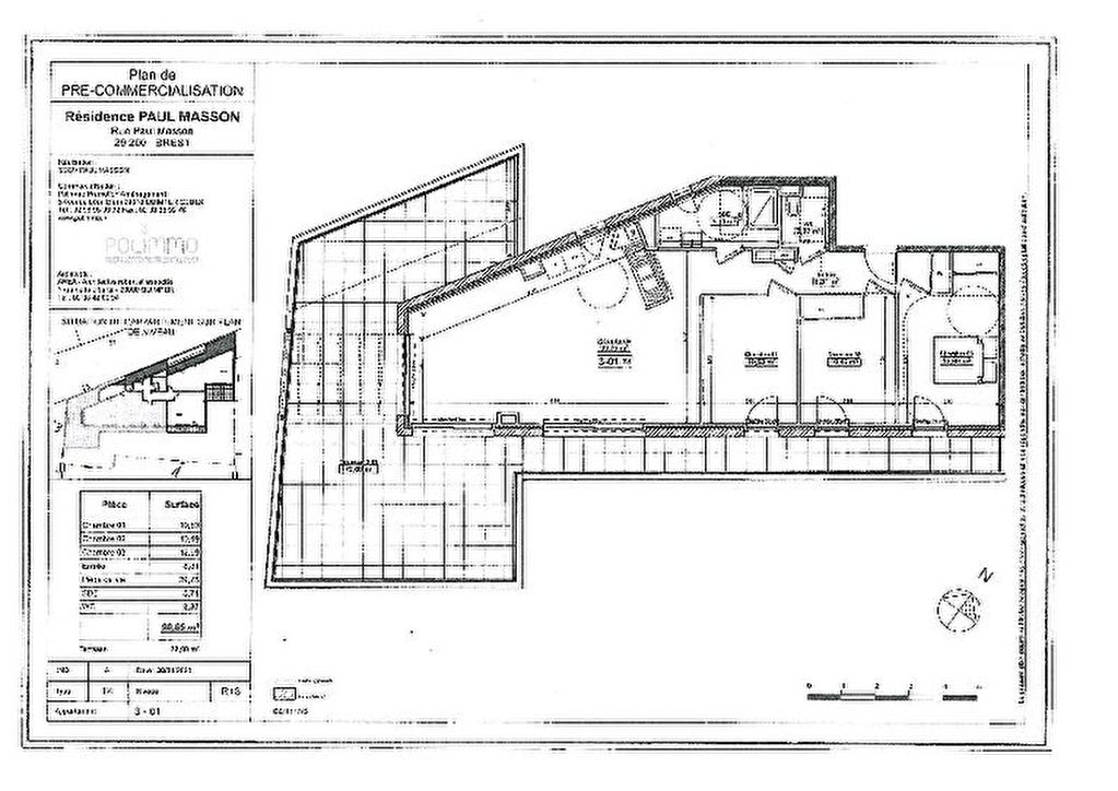 Appartement Brest - 4 pièce(s) - 90 m2