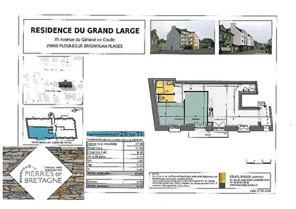 Appartement Brignogan Plages - 3 pièce(s) - 60 m2