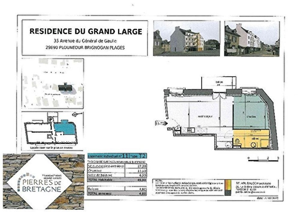 Appartement Brignogan Plage - 2 pièce(s) - 45 m2